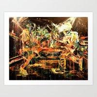 nirvana Art Prints featuring Nirvana by 2700art