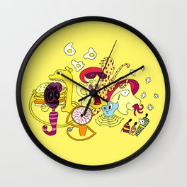 Freak Party Version 3 Wall Clock
