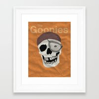 goonies Framed Art Prints featuring Goonies by B. Hopt