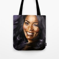 queen Tote Bags featuring Queen by Lily Fitch