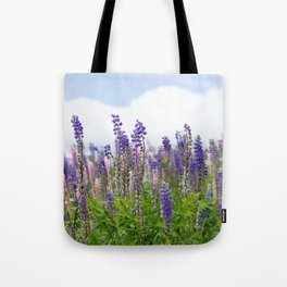 Hundreds of lupines Tote Bag