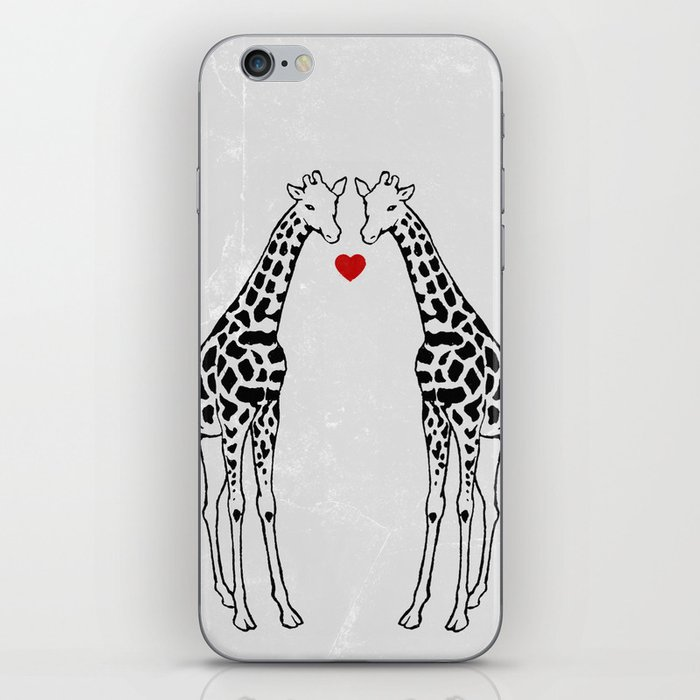 Giraffe Love iPhone Skin