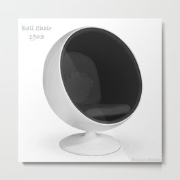 Ball Chair Metal Print