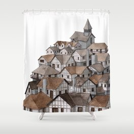 Medieval Town Shower Curtain