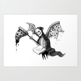 Pizza Reaper Art Print