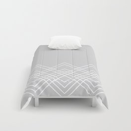 Geometric abstract - gray and white. Comforters