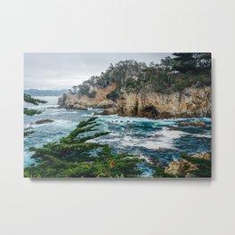 Crashing in Point Lobos Metal Print