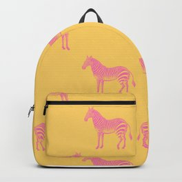 Zebra Pattern in Pink and Yellow Backpack