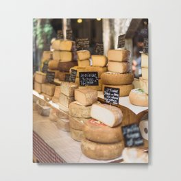 French Cheese Market Stall Metal Print