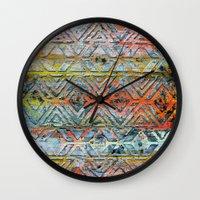 aztec Wall Clocks featuring Aztec by Liz Moran