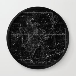 Celestial Map print from 1822 Wall Clock