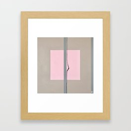 'In the Pink'  Abstract acrylic on canvas Framed Art Print