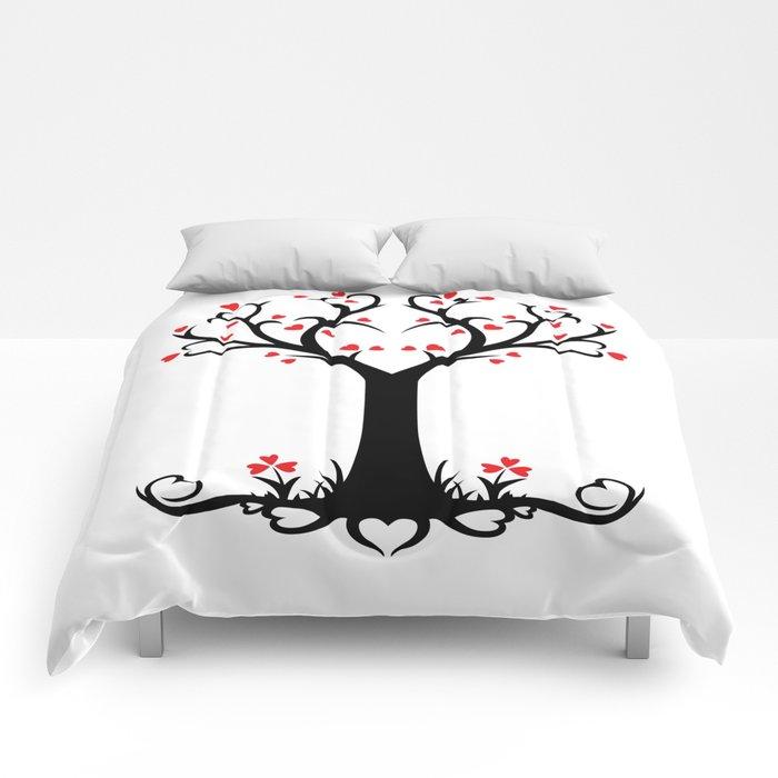 Heart Tree Love Design Comforters