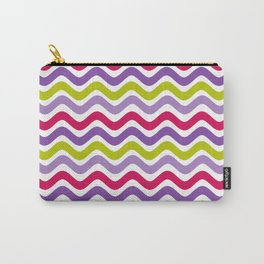 Wavy Rainbow Carry-All Pouch