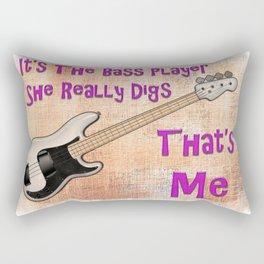 She Digs The Bass Rectangular Pillow
