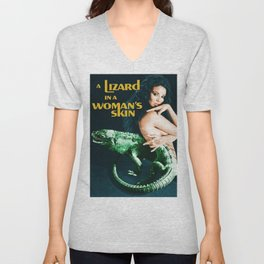 A Lizard in a Woman's skin, vintage horror movie poster Unisex V-Neck