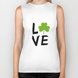 Love St Patricks Day Biker Tank
