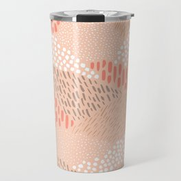 Dashes and dots in blush pink // abstract pattern Travel Mug