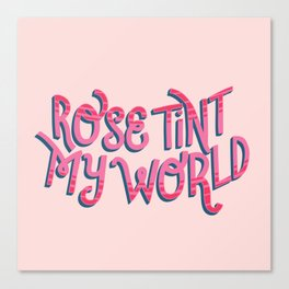 Rose tint my world (RHPS) Canvas Print