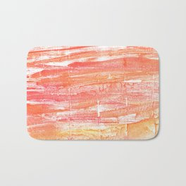 Vivid tangerine abstract watercolor Bath Mat