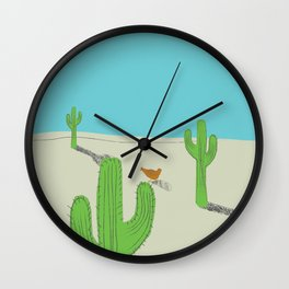 No country for Chickens Wall Clock