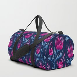 Fire Flower - Dark Pink Duffle Bag
