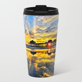 Sunset ~ Huntington Beach Pier CA  11/7/13 Metal Travel Mug