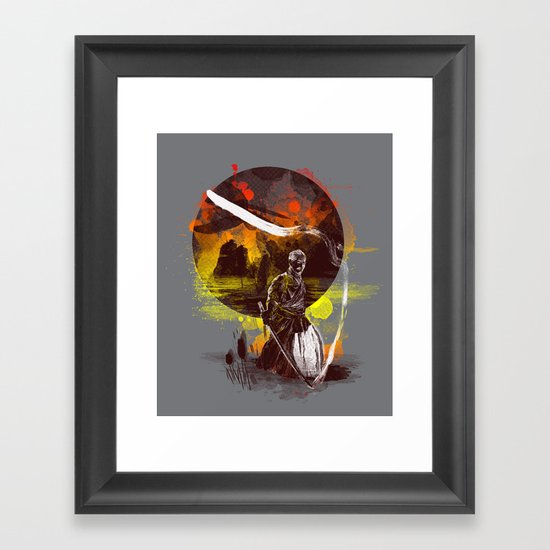 ink kata Framed Art Print
