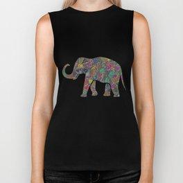 Animal Mosaic - The Elephant Biker Tank