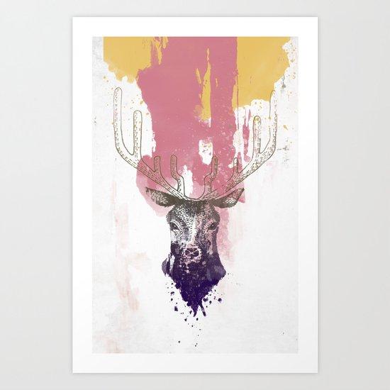 Deer a Art Print