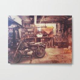 Basement Bike Metal Print