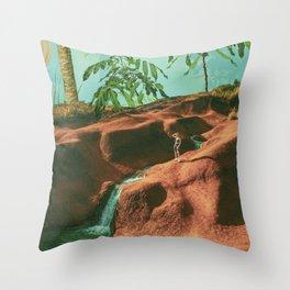 Jurassic Land Throw Pillow