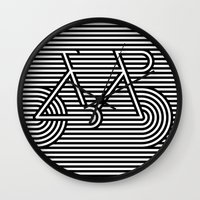 bicycle Wall Clocks featuring Bicycle by AndISky