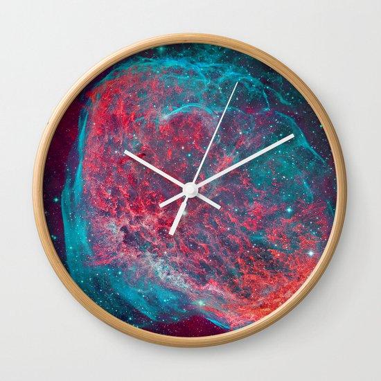 Crescent Nebula Wall Clock