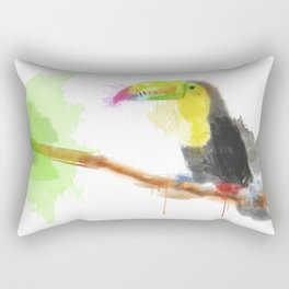 Watercolor Toucan Rectangular Pillow