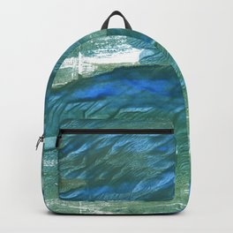 Wintergreen Dream abstract watercolor Backpack