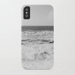 Vintage film style Black and white coast. iPhone Case