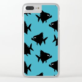 Angry Animals - Piranha Clear iPhone Case