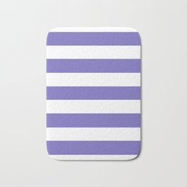 Blue-violet (Crayola) - solid color - white stripes pattern Bath Mat