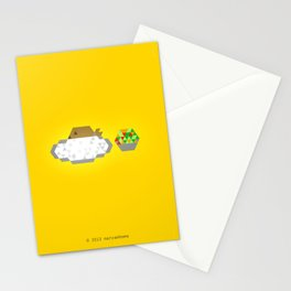 GRILLED FISH + WHITE RICE + SALAD ON THE SIDE Stationery Cards