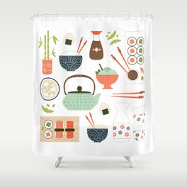 You had Me at Sushi Shower Curtain