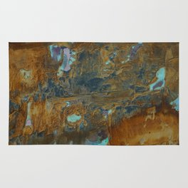 Blue Lagoons in Rusty World Rug