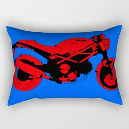 Red motorcycle for bike lovers Rectangular Pillow