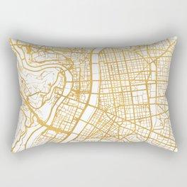 LYON FRANCE CITY STREET MAP ART Rectangular Pillow