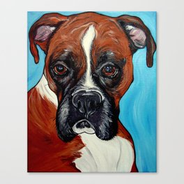 Oscar the Boxer Canvas Print