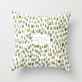 A Tree Falls Throw Pillow