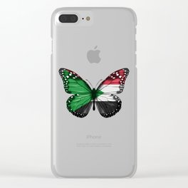 Butterfly Flag Of Sudan Clear iPhone Case