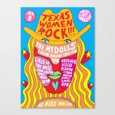 Texas Women Rock Canvas Print