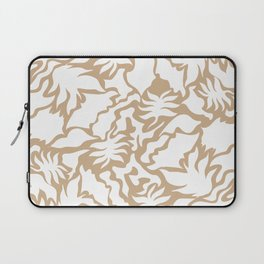 Minimal Shapes Peach Skintone Fall Palm Leaf Pattern Digital Art Print Laptop Sleeve