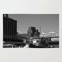 montreal Area & Throw Rugs featuring Old Port Montreal by Christophe Chiozzi